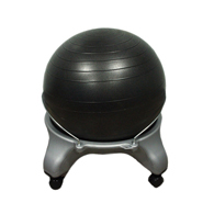 "CanDo 30-1796 Adult Plastic Mobile Ball Stool-No Back-22"" Ball"
