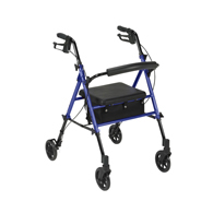 "Drive Medical Adjustable Height Rollator with 6"" Wheels"