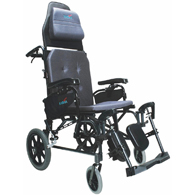 Karman MVP502 Lightweight Ergonomic Reclining Transport Wheelchair