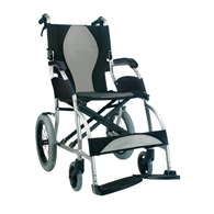 Karman Ergo 2501 Transport Wheelchair w/ Companion Hill Brakes