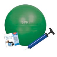 SPRI 05-58675 Xercise Ball 45CM Stability Ball Training Kit w/ DVD
